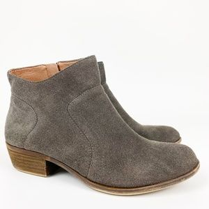Lucky Brand Brolley Suede Gray ankle bootie 9